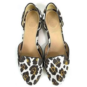 J Crew Collection D'Orsay Cleo Flats Womens Size 8